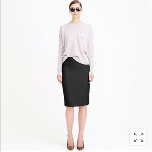 J.Crew Black Wool Pencil Skirt